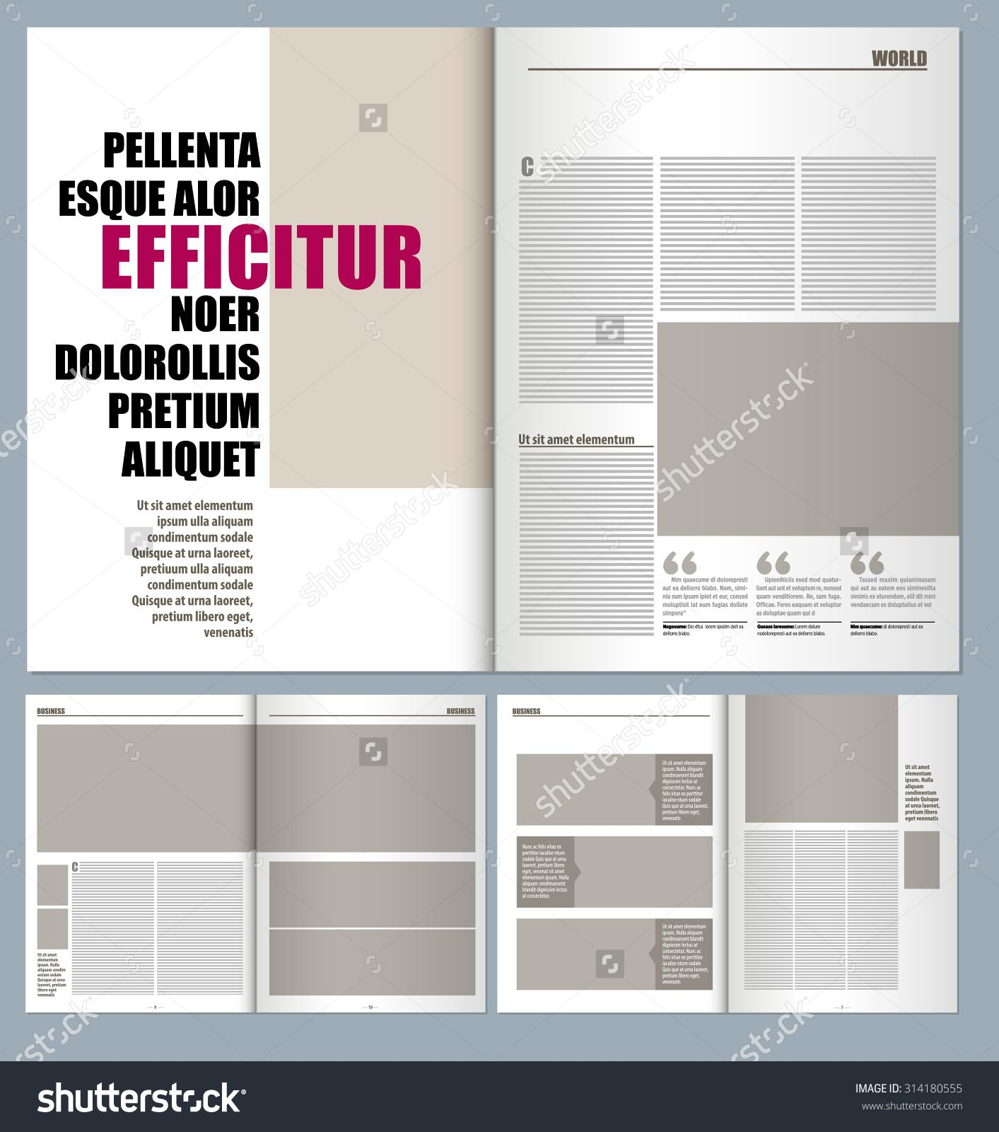 modern magazine layout template | graphic | Pinterest | Layout ...