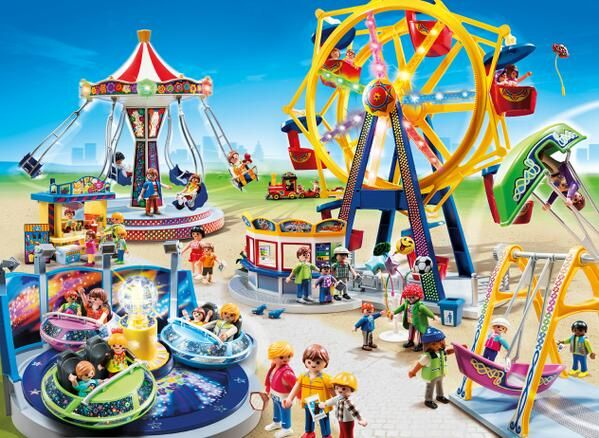 Playmobil amusement park set - winner of the 2014 Toy Award at the  International Toy Fair