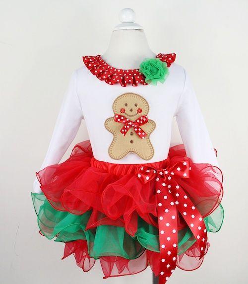 67245709d9a62 girls christmas tutu outfits | , girls, christmas clothing ...