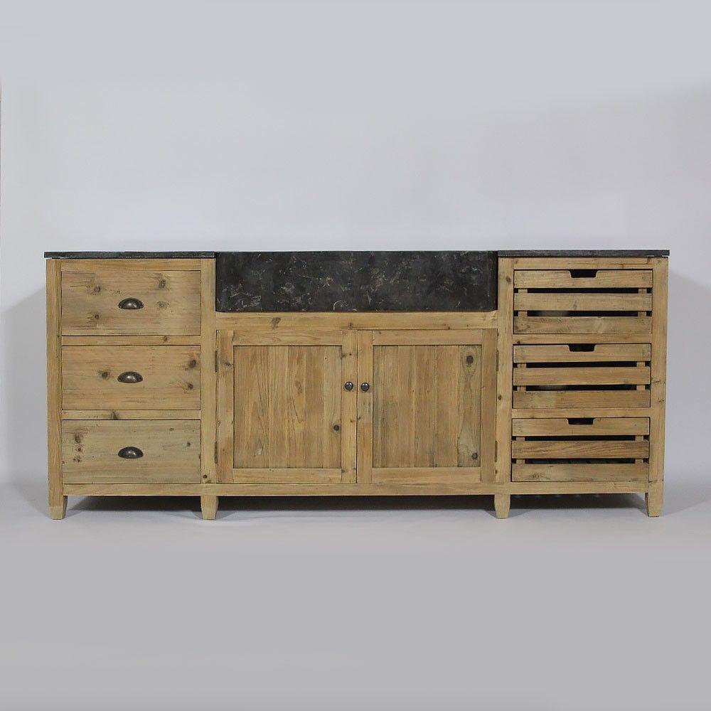 plan de travail pin massif cool table chne massif et pied acier micheli design to plateau de. Black Bedroom Furniture Sets. Home Design Ideas