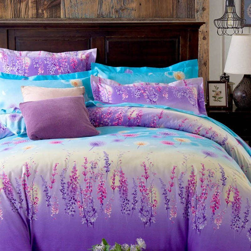 Pin On Hipster Bedding From, Teal And Purple Ombre Bedding