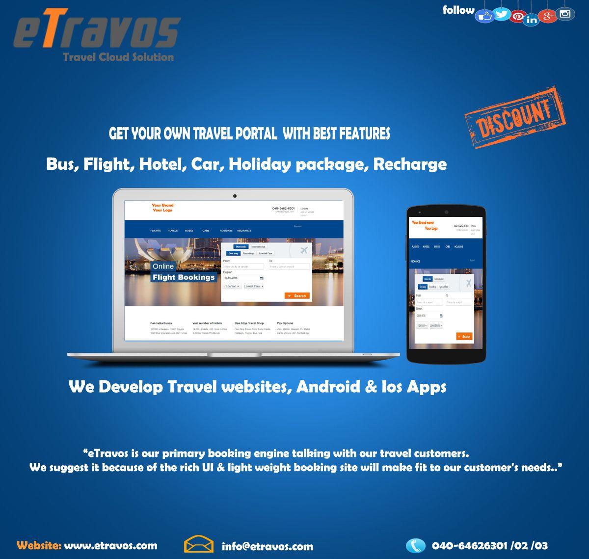 eTravos Technology Platform is A travel technology solution
