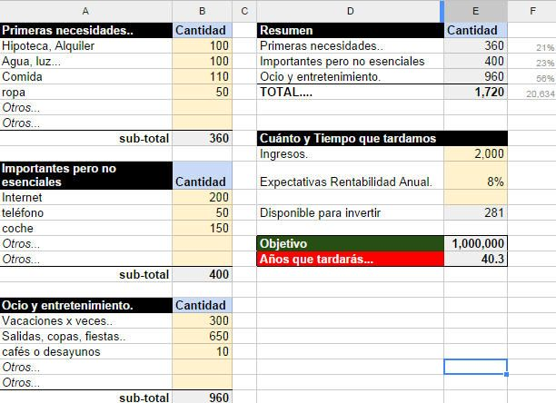 Plantilla Excel para tus finanzas personales y contabilidad - formato inventario en excel
