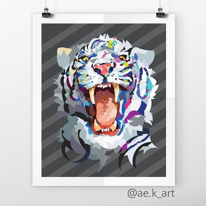 #white #tiger #beast #howling #angry #graphic #graphicdesign #illustration  #circle #animal #display #poster #inspiration #f4f #화이트 #백호 #호랑이 #야수 #하울링 #그래픽 #그래픽디자인 #일러스트 #일러스트레이션 #원 #아트 #디스플레이 #작품 #포스터 #영감 #맞팔 by ae.k_art