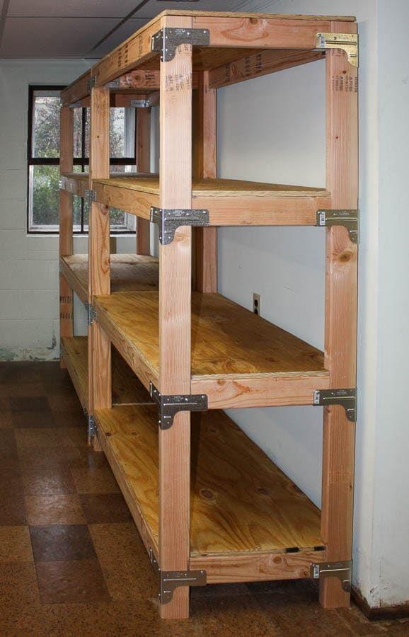 DIY 2x4 Shelving Unit - Sweet Pea