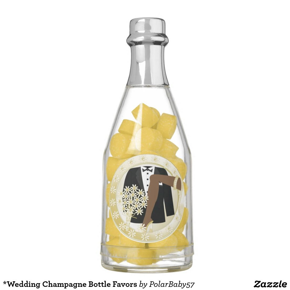 Wedding Champagne Bottle Favors Chewing Gum | Chewing gum