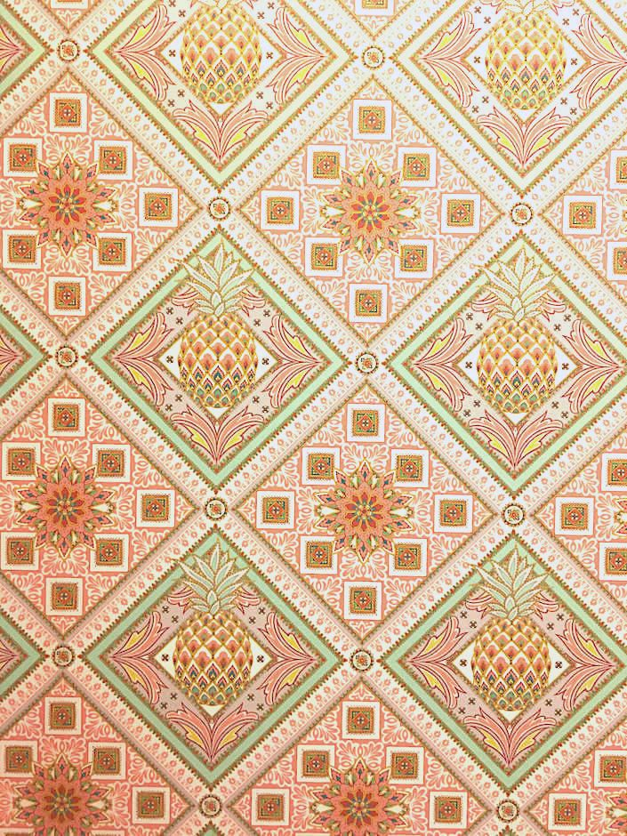 Gucci Décor at Bergdorf's Pineapple wallpaper, Gucci