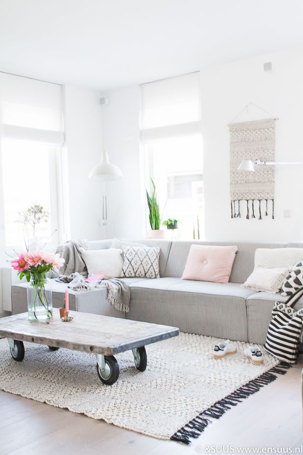 Bohemien vloerkleed vakken | Interiors, Living rooms and Tables
