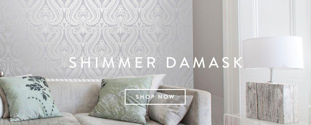 I love wallpaper plain floral patterned glitter wallpapers