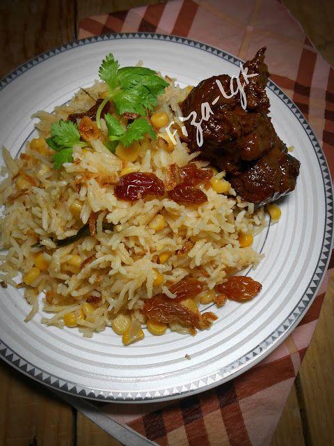 Nasi Jagung Dan Daging Masak Itam Pulau Pinang Resep Makanan Resep Masakan Makanan