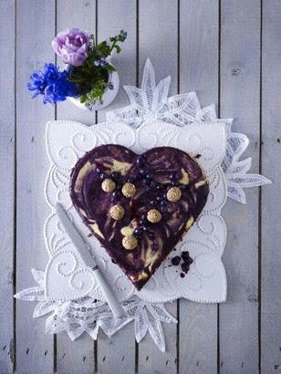 Heidelbeer Kaesekuchen Herz