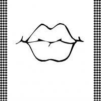 Lips Flash Card Lip Stencil Templates Printable Free Drawing Stencils