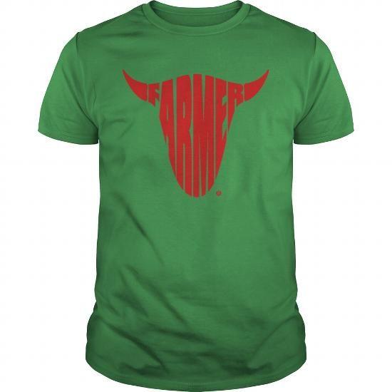 Farmer Farming Bull Skull Shirt