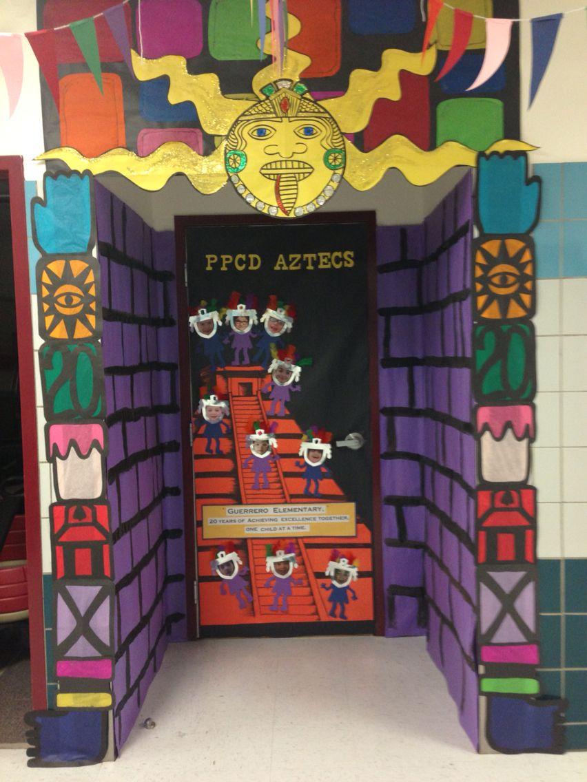 Social Studies Classroom Door Decorations ~ Aztec door classroom decorations pinterest
