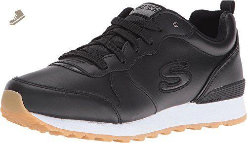 Skechers Women's OG 85 Street Sneak Low Sneaker,Black,US 5 M