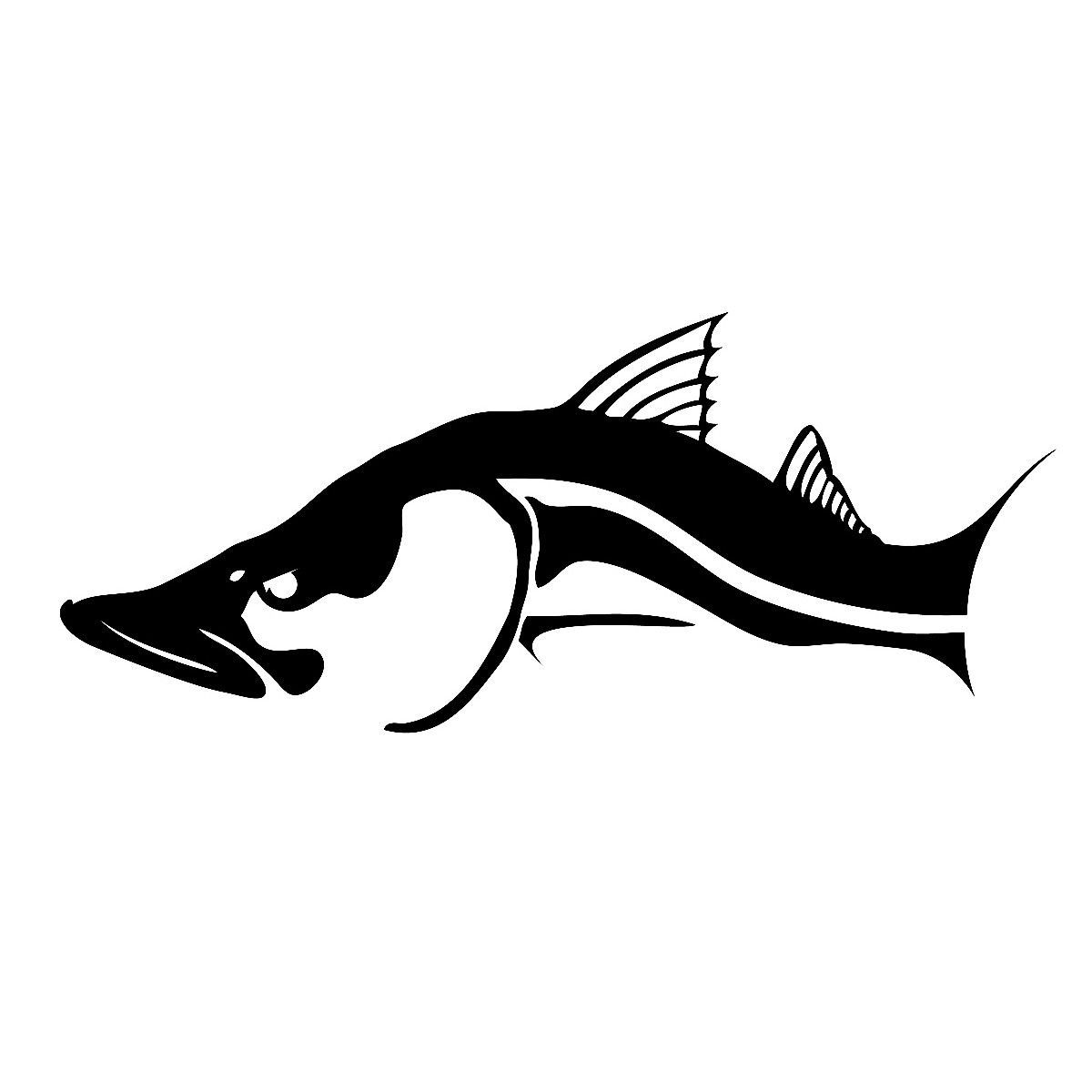 Snook Decal By Skiff Life In Black Or White