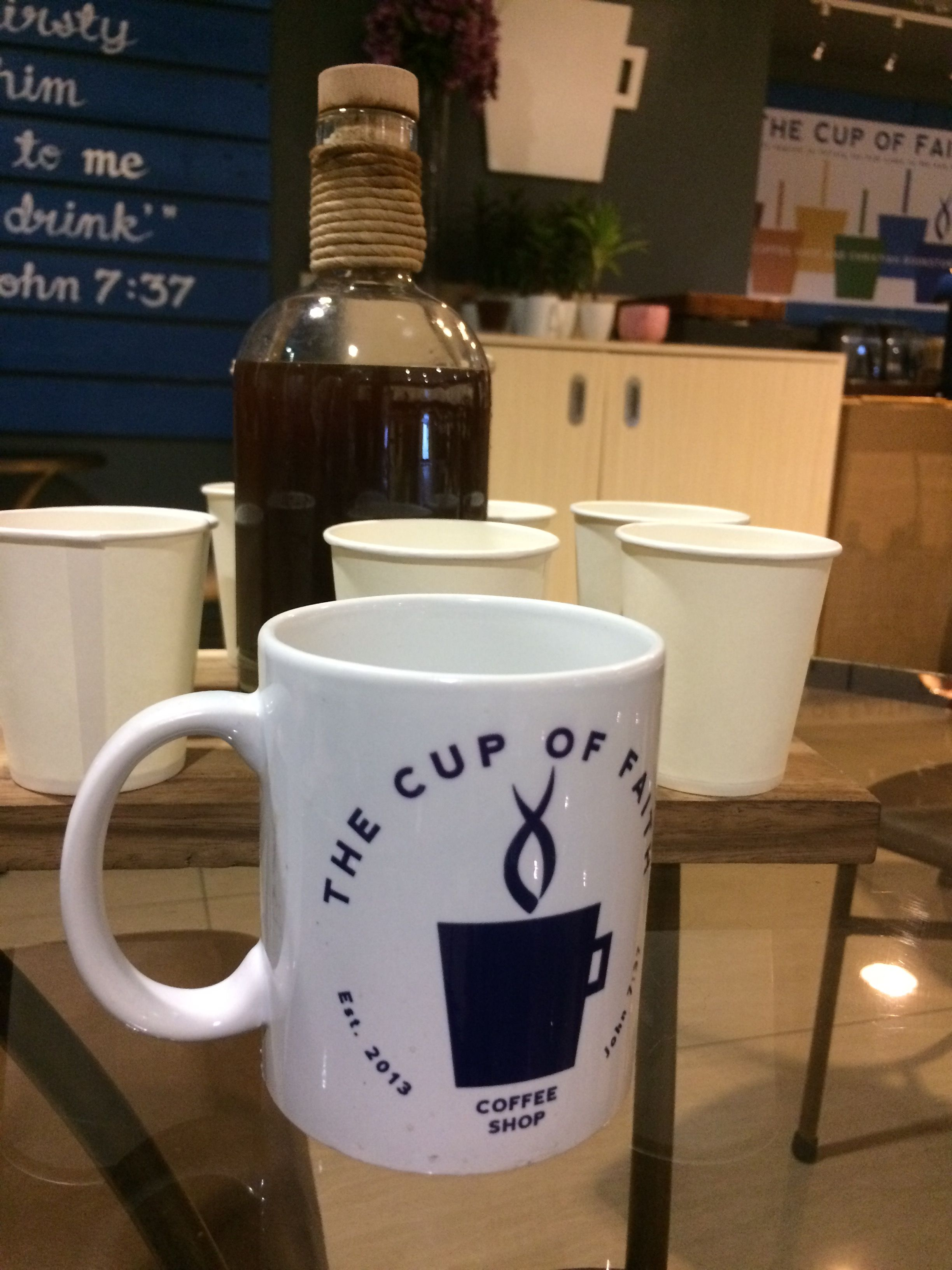 Trying a new cold brew at The Cup of Faith Fine coffee
