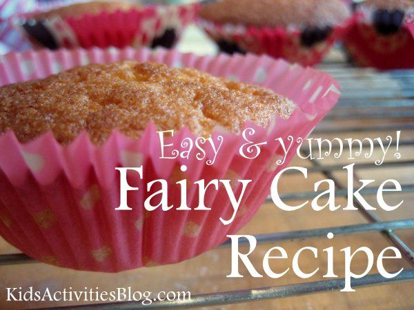 Easy Fairy Cake Recipe Fairy cakes Fairy and Birthday cakes