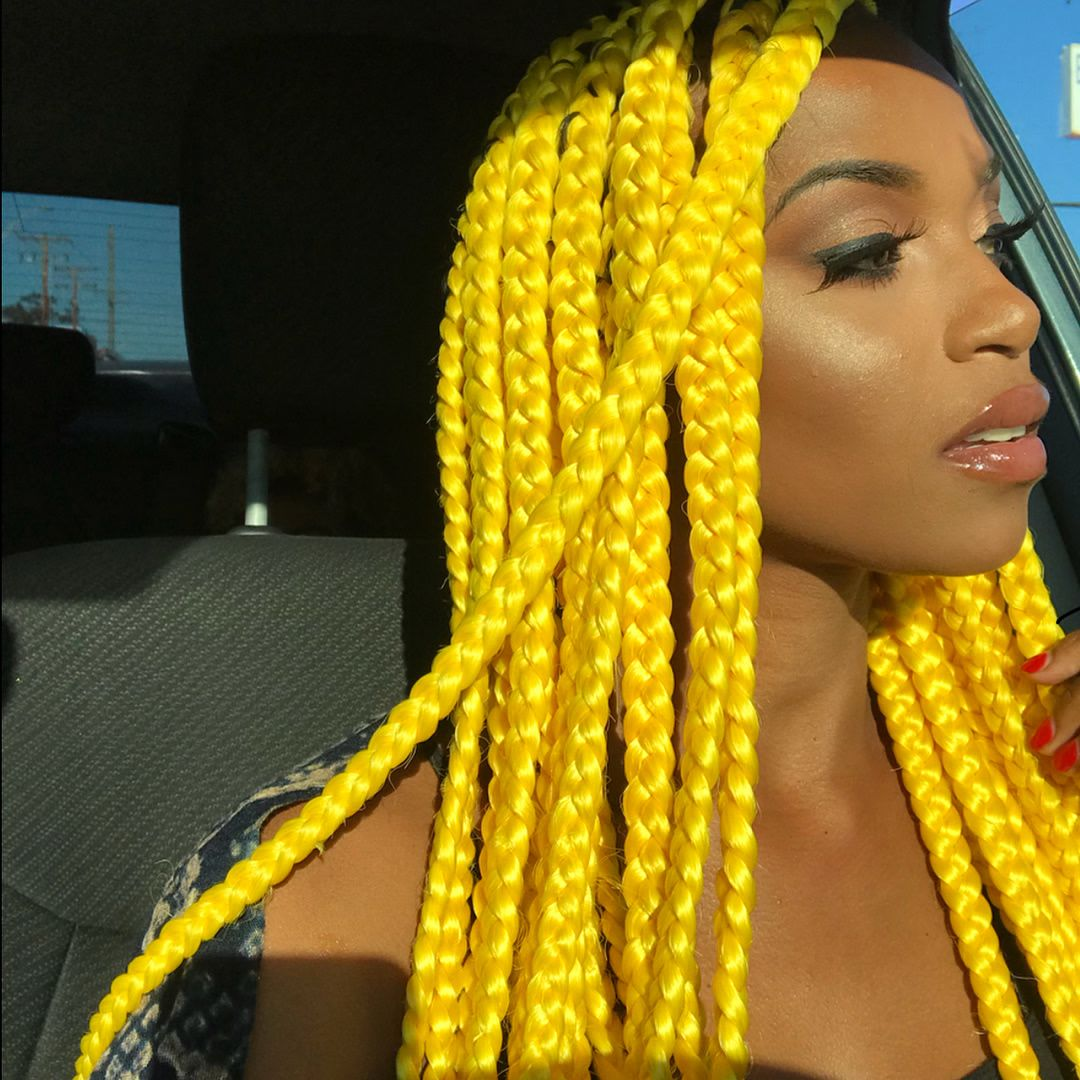 Pin By Lets Run Away On Yellow Aesthetics Box Braids Hairstyles