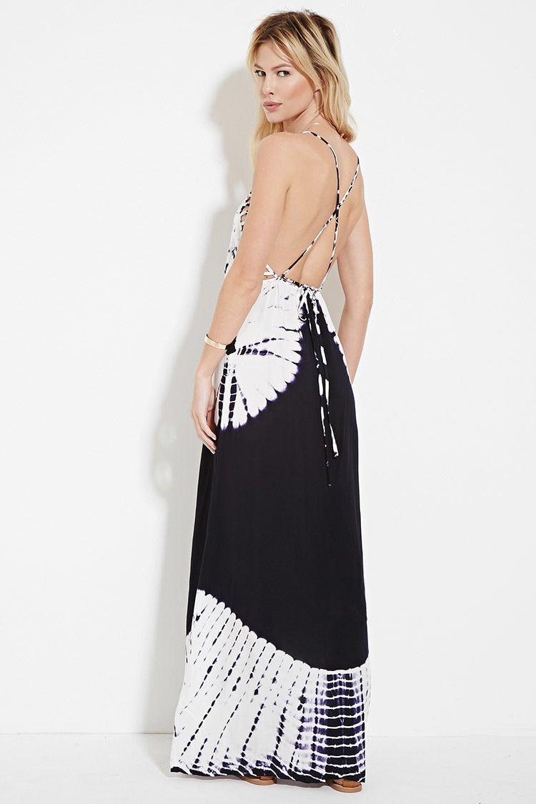 7121775612 Caged Tie-Dye Maxi Dress