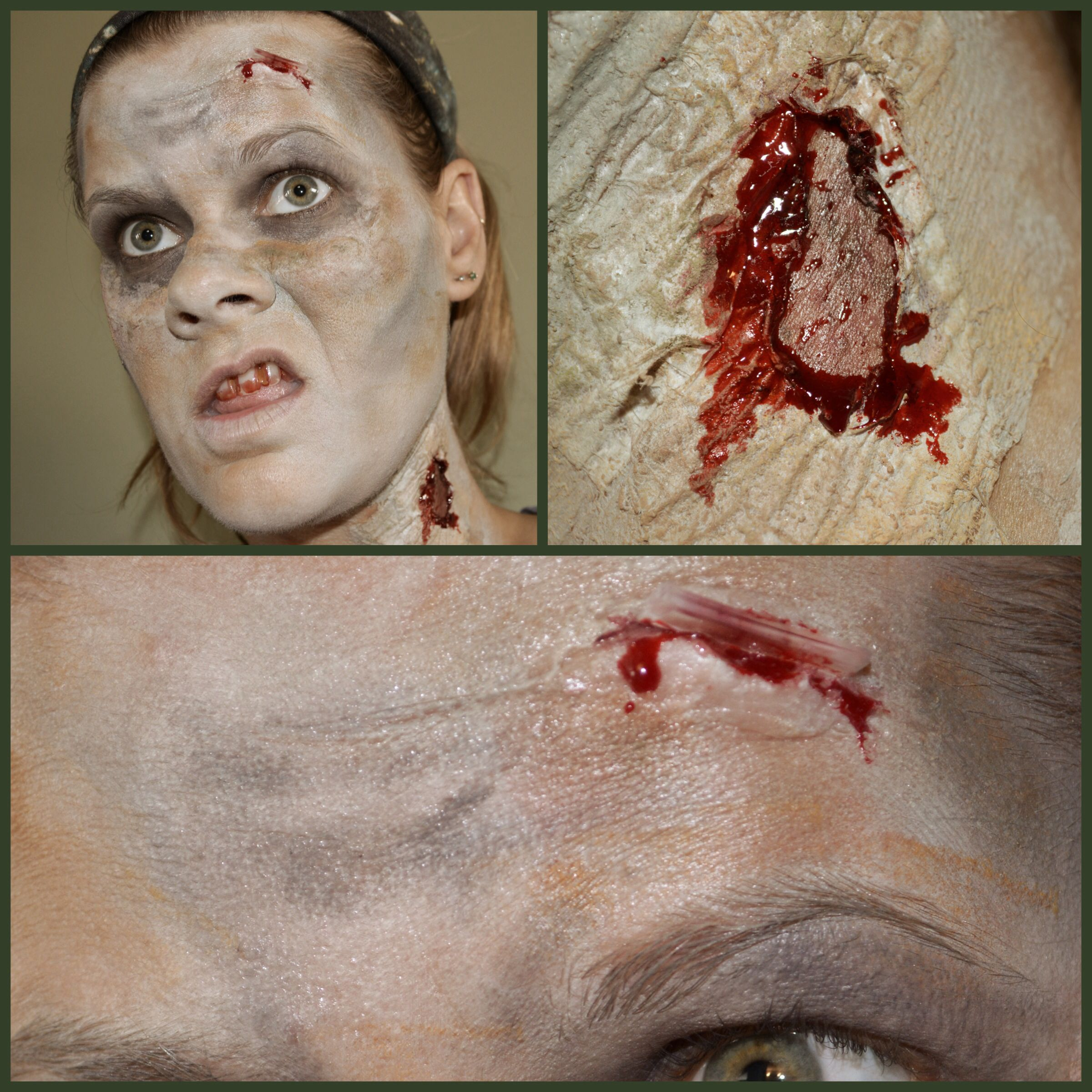 My first attempt at zombie makeup. Using the Mehron