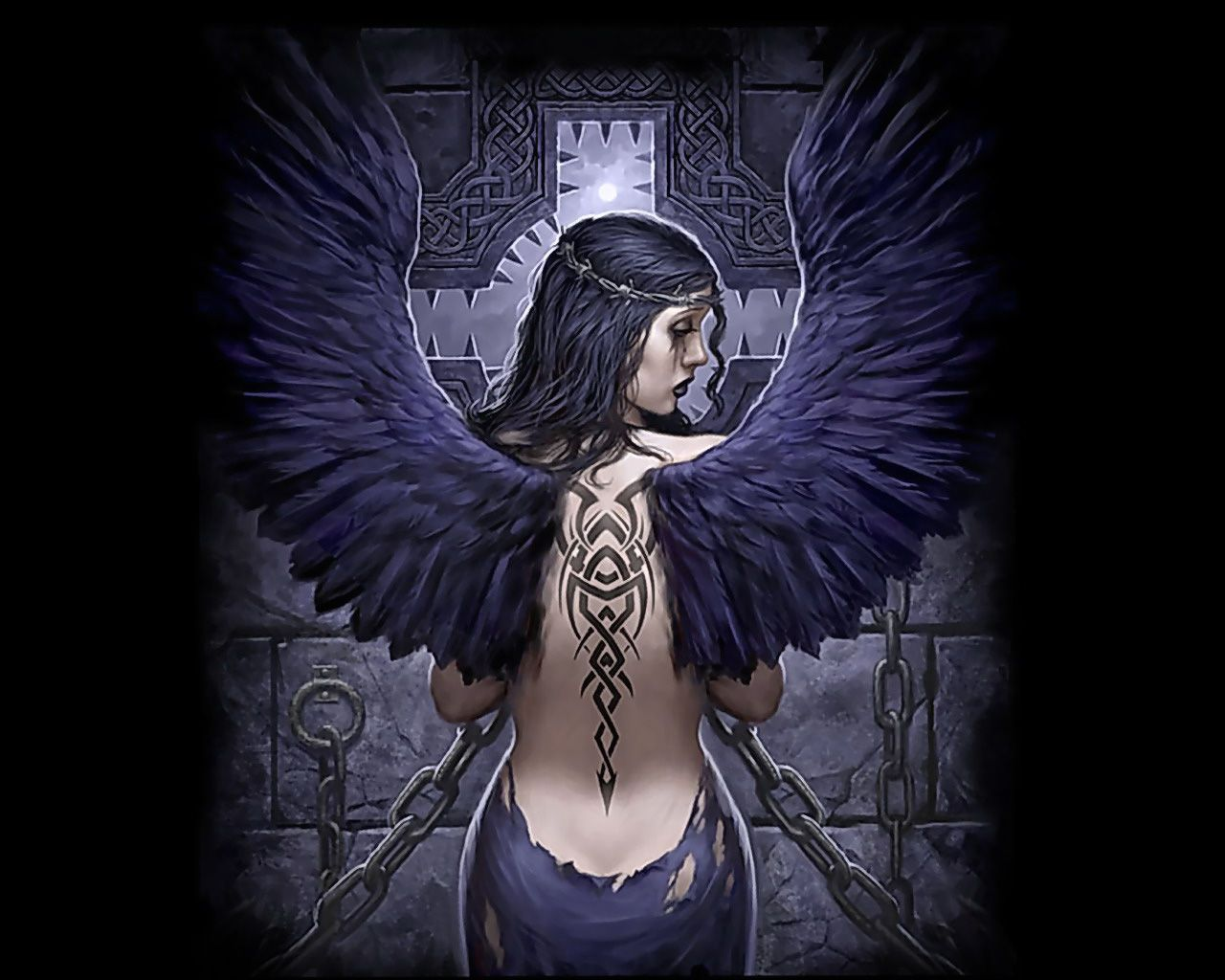 Pin on darkness and light - Gothic fallen angel pictures ...