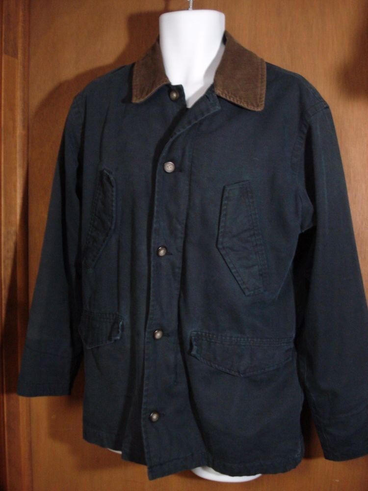 cdeea54543a AE American Eagle Outfitters Barn Coat Field Jacket Mens XS Flannel Lined  Blue  AmericanEagleOutfitters  BARN