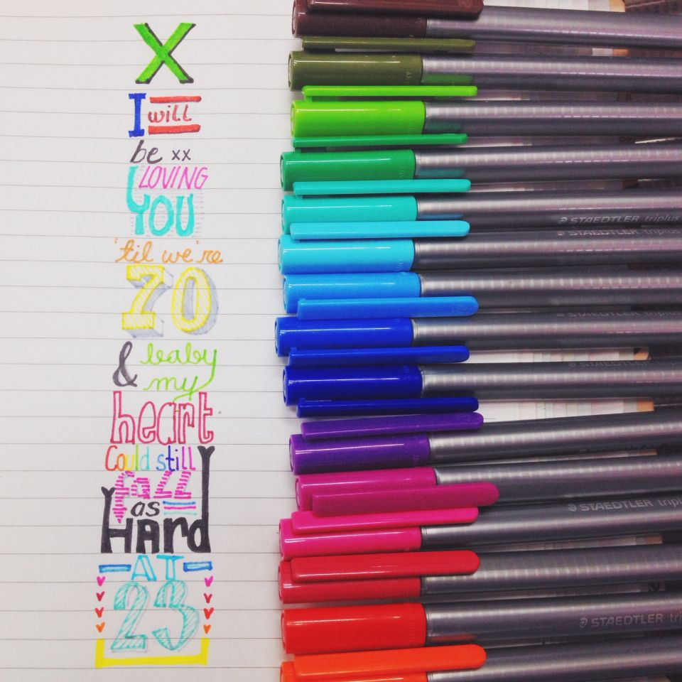 Thinking Out Loud x Ed Sheeran// August 2014 Staedtler