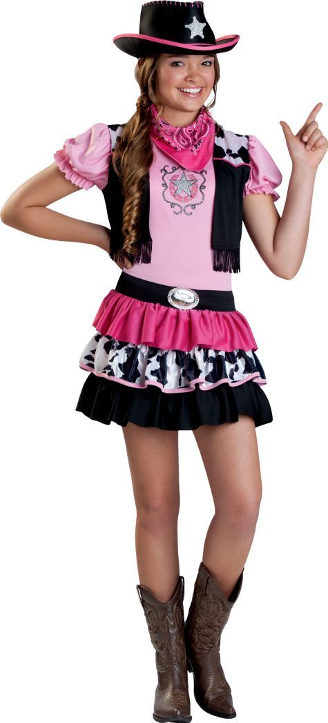 Girls Giddy Up Cowgirl Costume - Party City | Halloween Costume ...