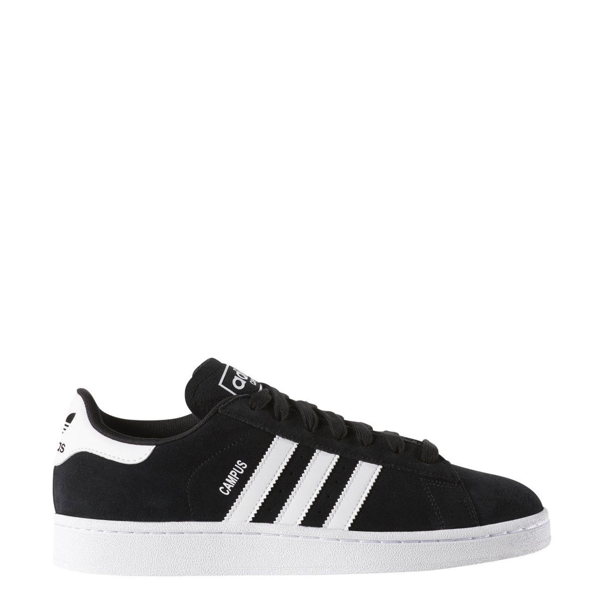 Adidas Campus Black White Sneakers Scarpe Da Ginnastica In