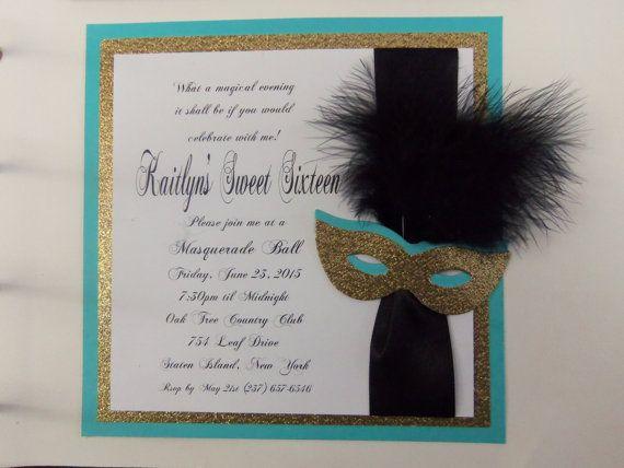 Sweet 16 Masquerade Invitation