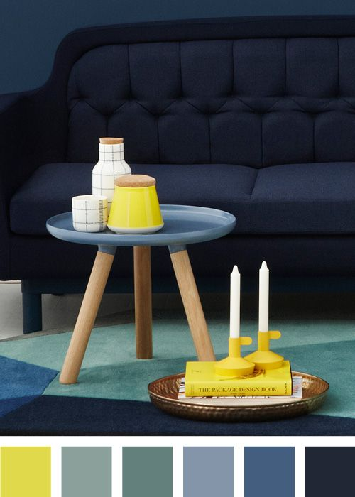 Style with colors - Blue Tablo table
