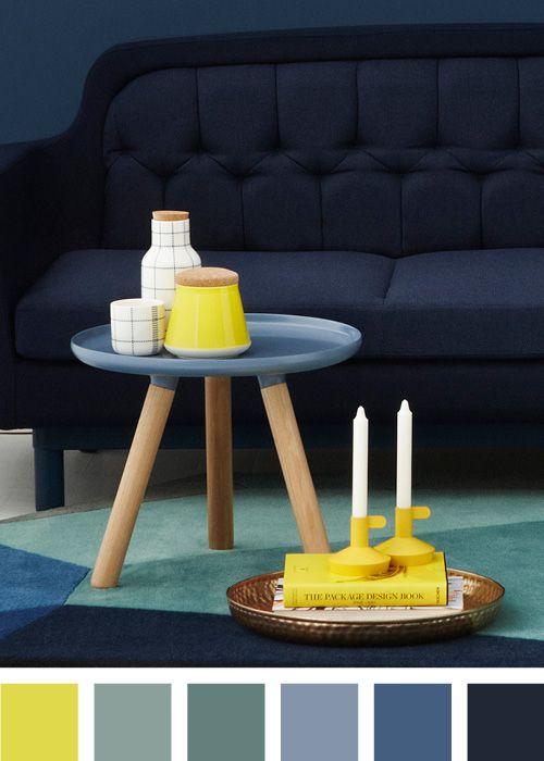 Style with colors - Blue Tablo table salon Pinterest Couleurs