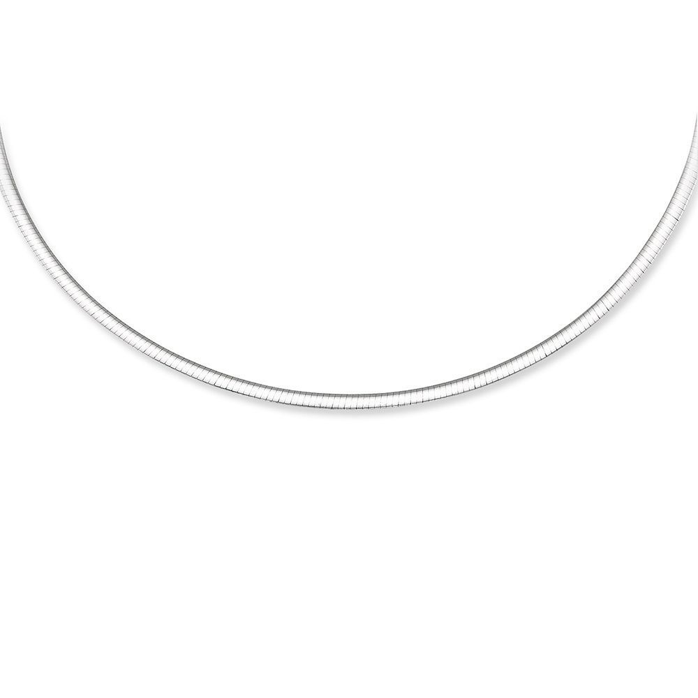 Chelsea Jewelry Basic Collections Italian Designed 6.0mm Wide 18K White Gold Herringbone Shaped Chain Necklace 18 Inches, white-gold