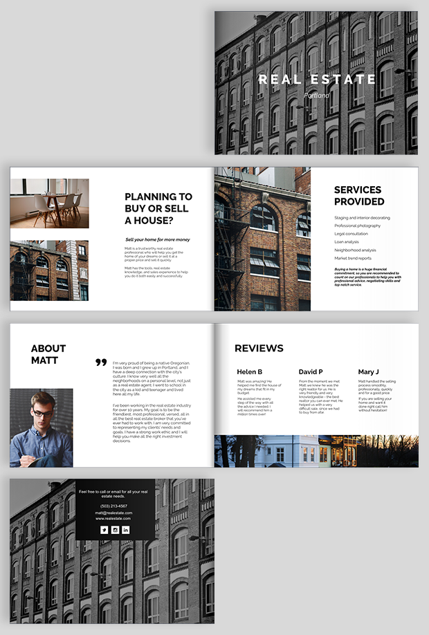 How To Make A Real Estate Brochure Design Tips And Free Templates Luxury Real Estate Brochure Real Estate Brochures Real Estates Design