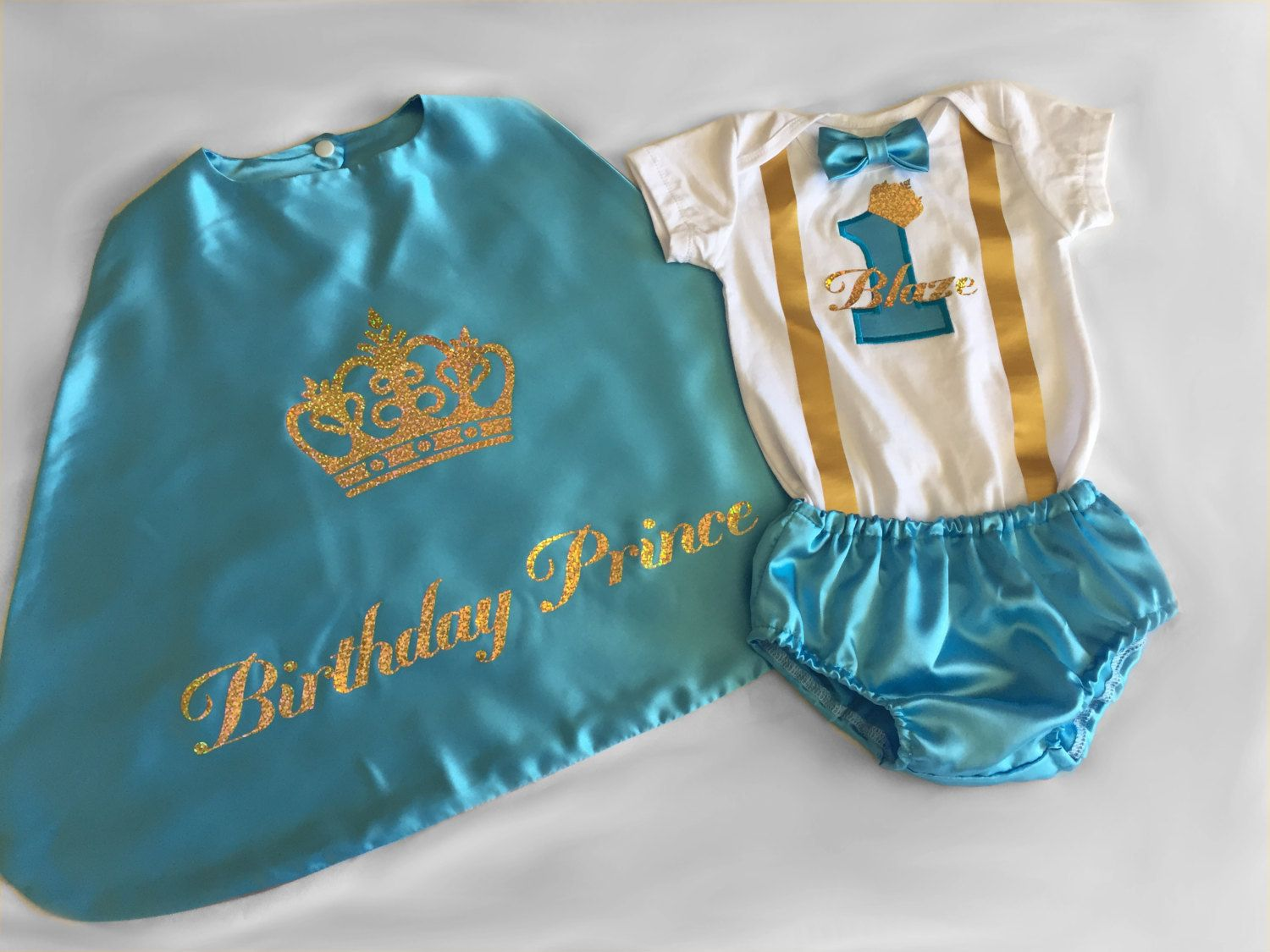 First Birthday Outfit Boy Cake Smash Outfit Boy Aqua