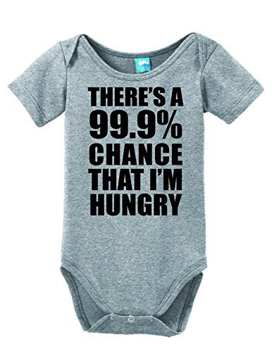 Funny Girls /& Boys Kids T-Shirt There`s a 99.9/% Chance I`m Hungry
