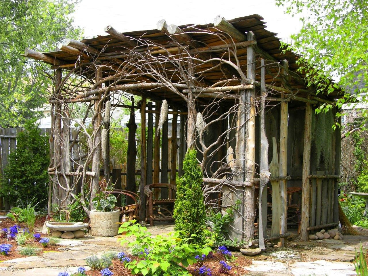 Image Result For Garden Structures Made From Branches Garden