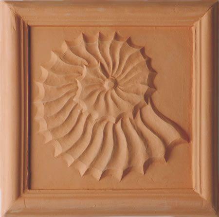 Fossil Terracotta Plaque