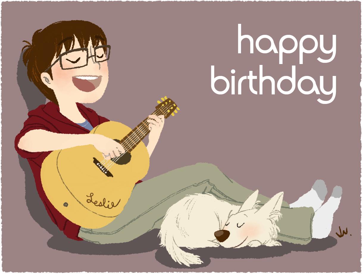 На гитаре поздравление с днем рождения