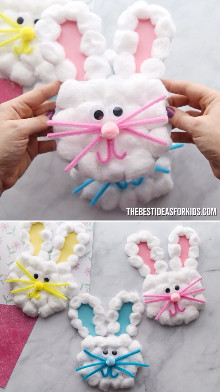 EASTER BUNNY CARDS 🐰 - such a cute Easter craft for kids! #bestideasforkids