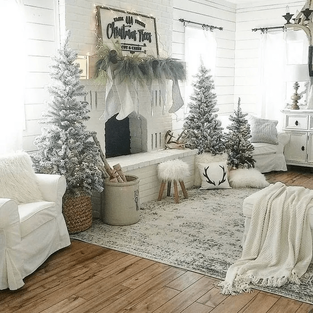 Top 11 Incredible Cozy And Rustic Chic Living Room For: 30 Awesome Rustic Farmhouse Style Christmas Home Decor