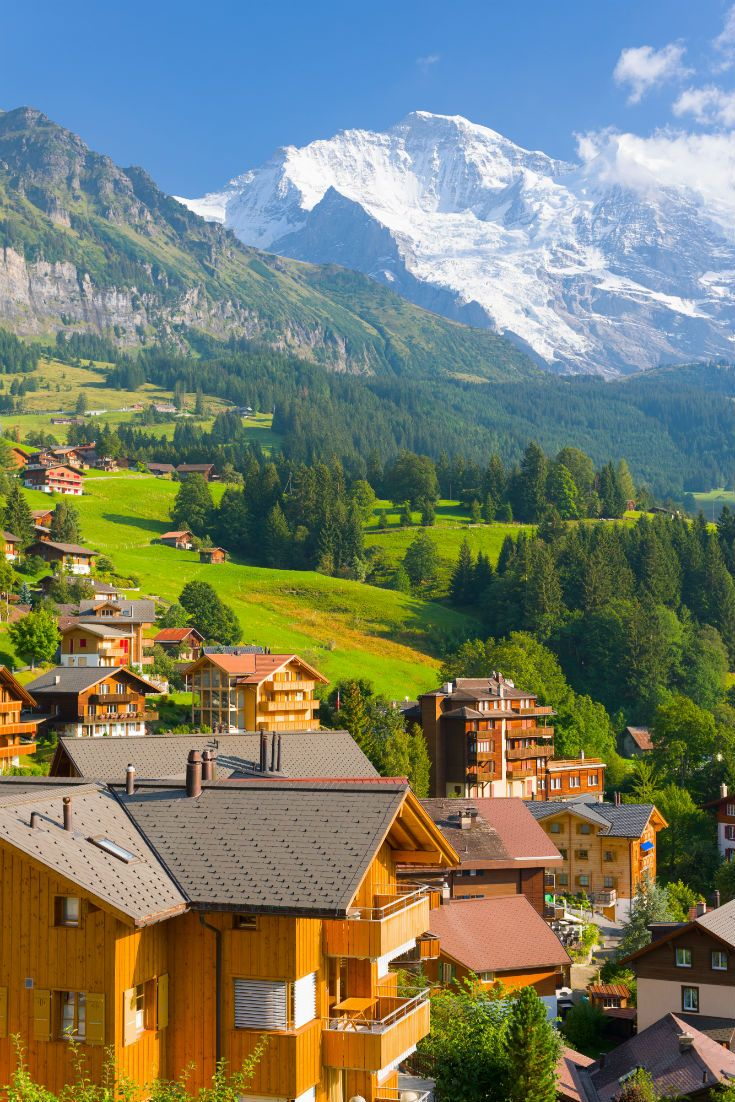Wengen Village In The Swiss Alps Alps Switzerland Mountains - 11 cities to visit on your trip to switzerland