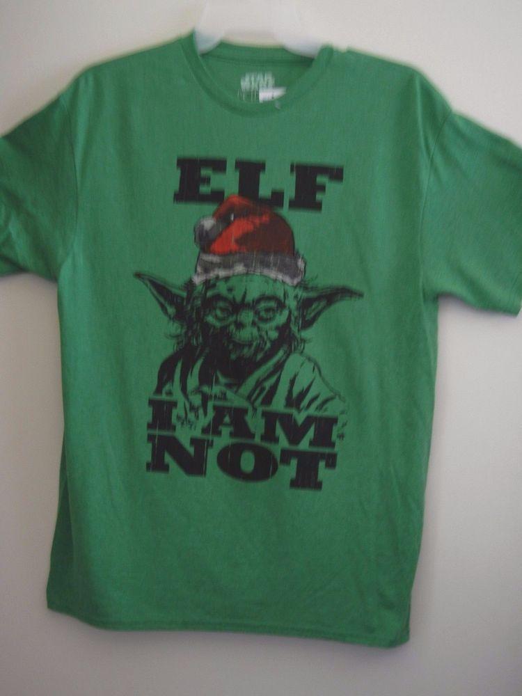 star wars yoda elf i am not t shirt green l xl new