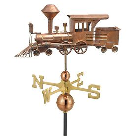 Good Directions Polished Copper Locomotive Weathervane 553p Weathervanes Good Directions Weather Vanes