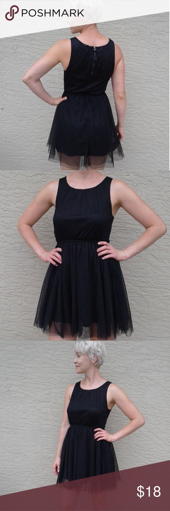 H M Party Dress Fun Flirty Short Black Dress With Net Overlay Zipper Back Divided By H M Dresses Mini Dresses Black Short Dress Party Dress [ 1740 x 580 Pixel ]