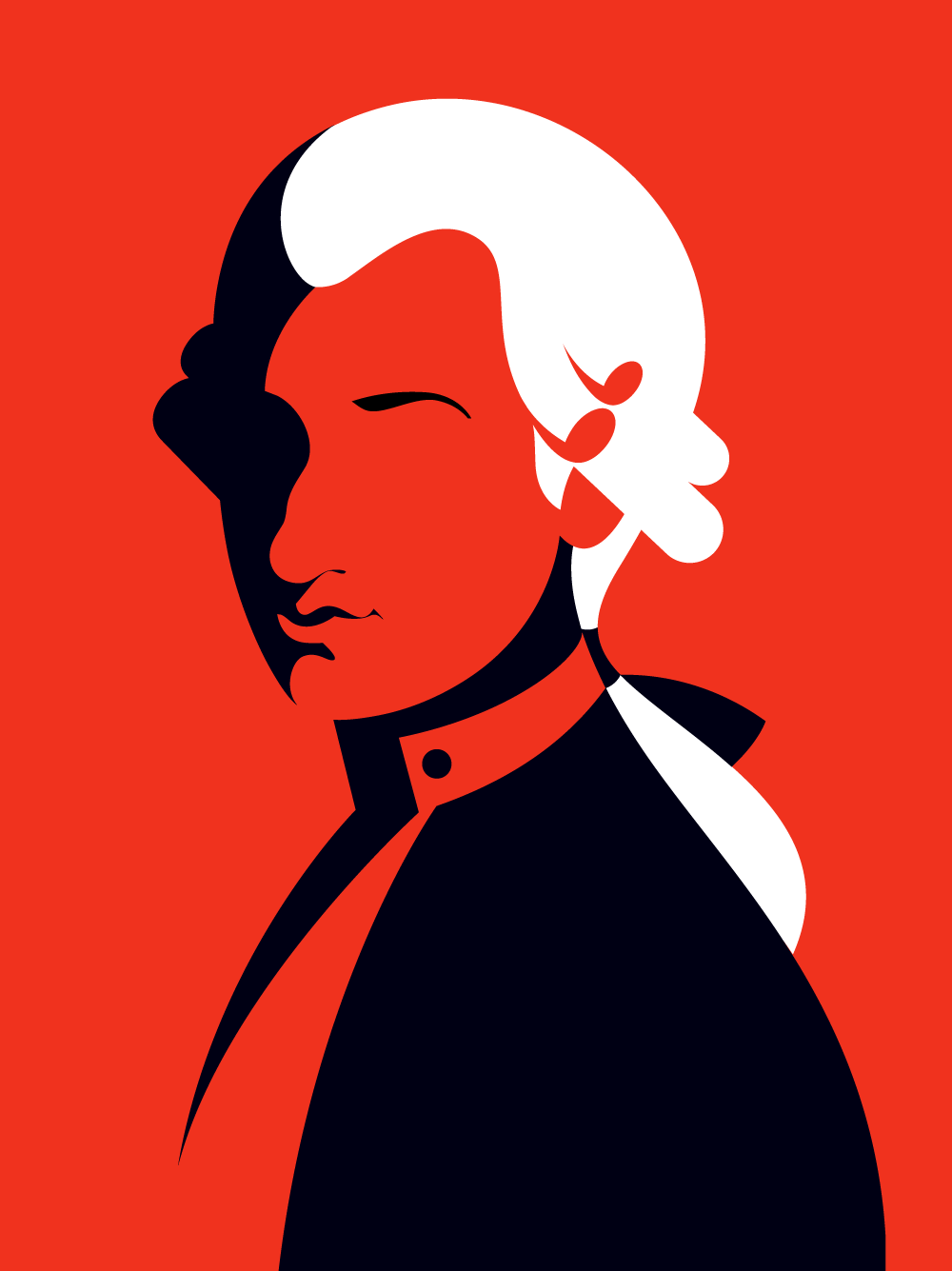 Wolfgang Amadeus Mozart portrait of a composer Austria clipart - Buy this  stock vector and explore similar vectors at Adobe Stock   Adobe Stock