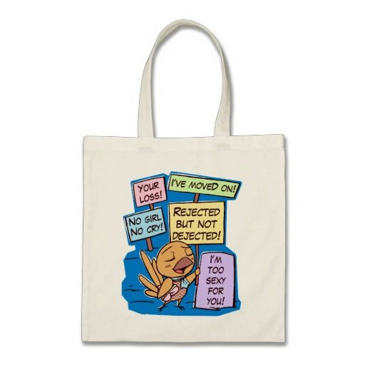 Broken hearted little bird boy bag. Cute cartoon bird drawing for unique gifts #birdthemedgifts #giftsforbirdlovers #valentinegifts #valentineday #loveromance #brokenhearted #unrequitedlove #singleandhappy #singleguy #birdcomic #birddaddy #spicefinch #finchlovers #petopet #emmilthomas #finchtotebag