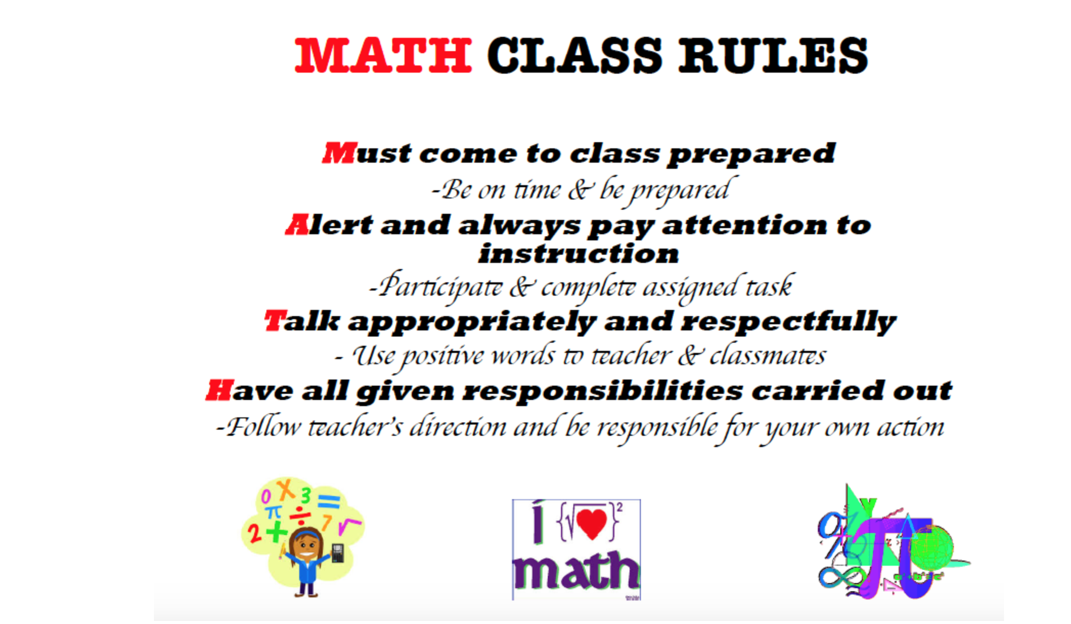 First Day Lesson Plan For Middle Or High School Math