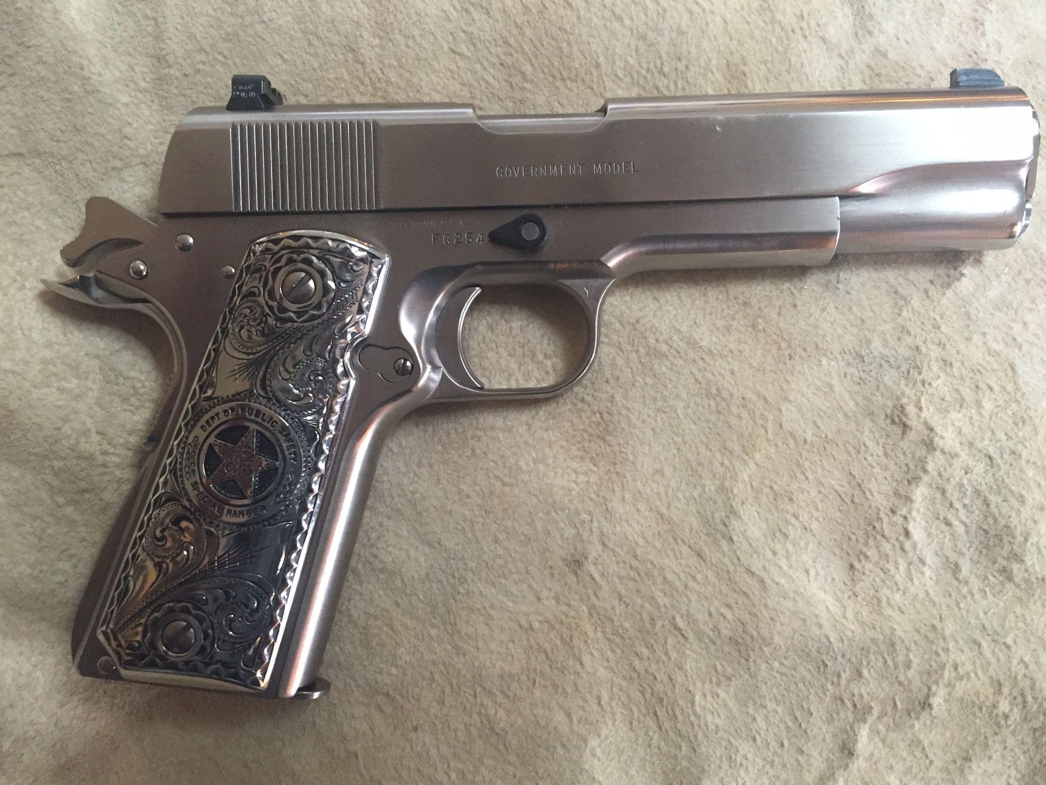 Colt 45 Government 1911  Custom german silver Special Ranger